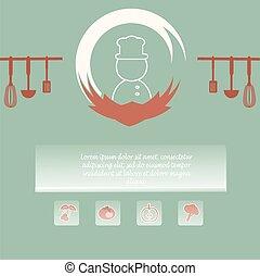 Menu page design vector illustraion