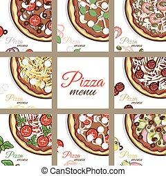 menu, pages, pizza