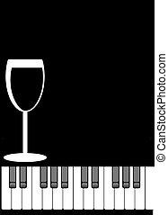 menu, piano
