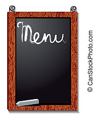 menu, planche, vide