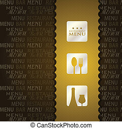 menu, présentation, restaurant