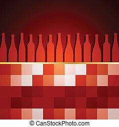 menu, présentation, vin