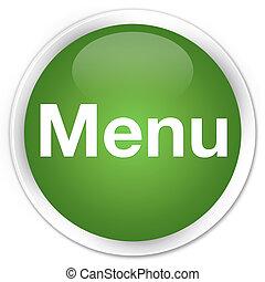 Menu premium soft green round button
