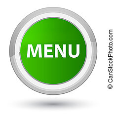 Menu prime green round button