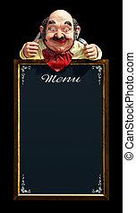 menu, quadro