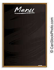 menu, quadro-negro