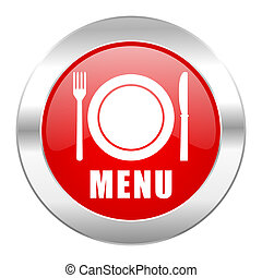 menu red circle chrome web icon isolated