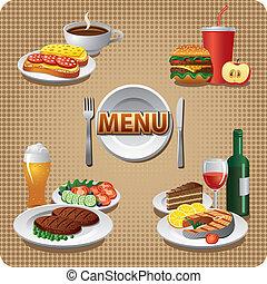 menu, refeições, diariamente