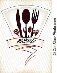 menu, restaurace, design