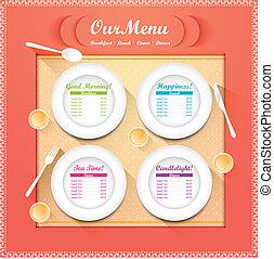 menu, restauracja
