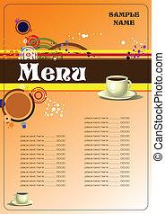 menu, restaurant, (cafe)