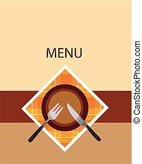 menu restaurant, conception