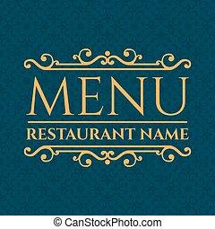 menu restaurant, illustration, élégant, vecteur, design.