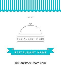 menu, restaurant, template., conception