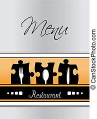 menu restaurant, -, vecteur, conception, gabarit, brochure