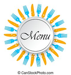 menu, restaurant, vecteur, illustration, design.