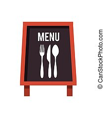 menu restaurant with cutlery set