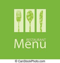 menu restaurante, cartão