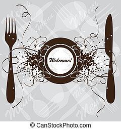 menu restaurante, desenho