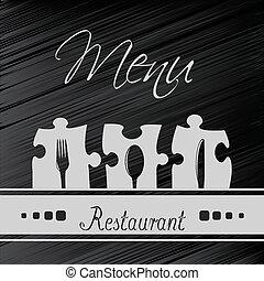 menu restaurante, -, vetorial, desenho, modelo, folheto