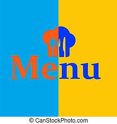 menu, retro