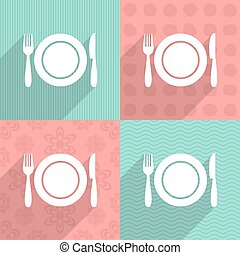 menu, sfondi, colorito, icona