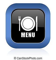 menu square glossy icon restaurant sign
