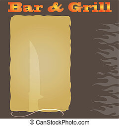 menu, steakhouse, fond