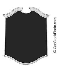 black board - menu style black board over white