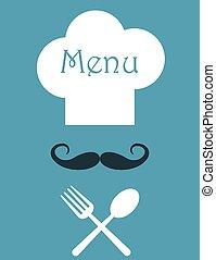 menu, style, conception, retro, restaurant
