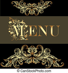 menu, style, conception, vendange