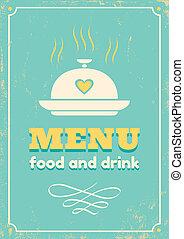 menu, style, retro