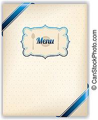 menu, style, vieux, conception, restaurant