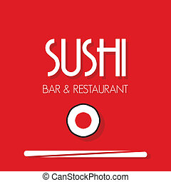 menu, sushi, carte, restaurant
