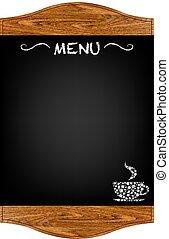 menu, tábua, restaurante