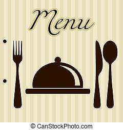 menu, tło, restauracja