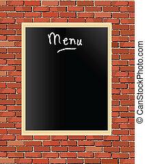 menu, tableau