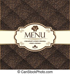 Menu template for restaurants