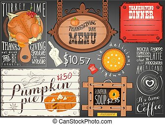 menu, thanksgiving, jour