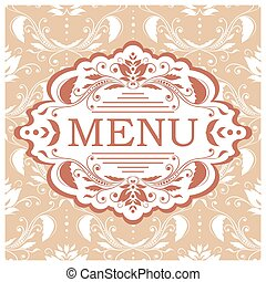 menu, vecteur, conception, gabarit, restaurant