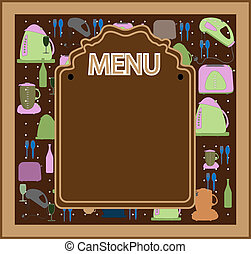 menu, vecteur, conception, restaurant