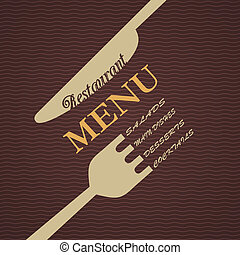 menu, vecteur, conception, restaurant