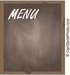 menu, vecteur, fond, tableau noir