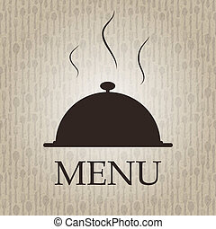 menu, vecteur, gabarit, illustration, restaurant