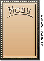 menu, vecteur, restaurant, conception