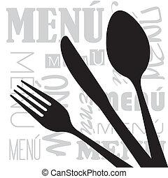 menu, vektor