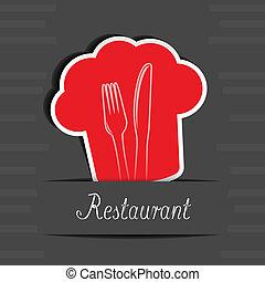 menu, vetorial, cartão, restaurante