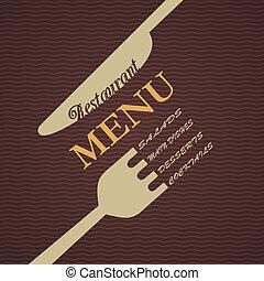 menu, vetorial, desenho, restaurante