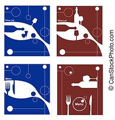 menu, vetorial, ilustração