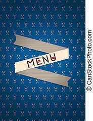 menu, vetorial, restaurante, desenho